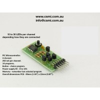 Programmable 4 channel light flashing  circuit