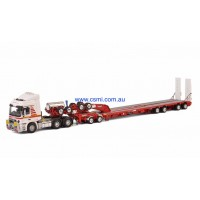 MAMMOET MB ACTROS 6X4 + DRAKE 2X8 DOLLY + 4X8 TRAILER