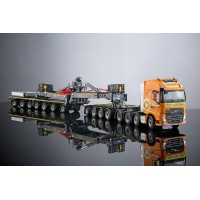 VAN DER VLIST MEGA WINDMILL TRANSPORTER 4+7 + VOLVO FH 8X4