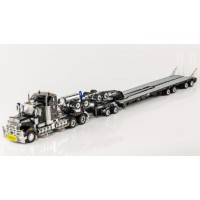 SOLD OUT Kenworth T909 Prime Mover Drake 2x8 Dolly 4x8 Swing Trailer Black