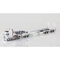 Kenworth K200 Prime Mover Drake 2x8 Dolly 4x8 Dragline Bucket Trailer White