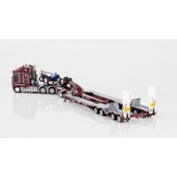 Kenworth K200 Prime Mover Drake 2x8 Dolly 4x8 Dragline Bucket Trailer vintage burgundy