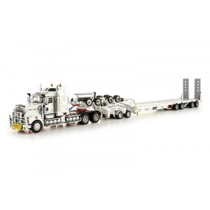 Kenworth T908+ Dolly+ Swing Trailer+ Terex AC100