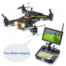 RTF Racer-250-FPV-Drone 2.4G-6CH-Transmitter-7-Inch-32CH-Monitor-HD-Camera-RTF