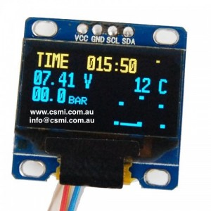 Data Display screen for RC models