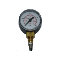 0 to 40 bar/psi  dual pressure gauge  4mm tube fitting