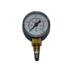 0 to 40 bar/psi  dual pressure gauge  4mm tube fitting