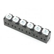 6 port control valve