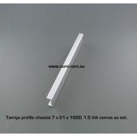 Tamiya Blank Chassis Rail 1M